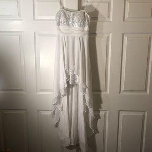 Hailey Logan White Strapless High Low Dress